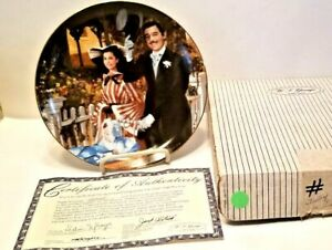 Gone With The Wind Collector Plate 1988 WS George STROLLING IN ATLANTA