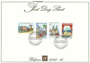 [FDS264] Belgium FDS 2008-18 Folklore & Traditions First Day Sheet SUPERB