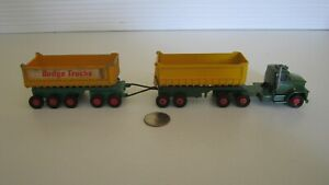 Vintage Matchbox King Size Dodge Tractor K-16 and Fruehauf Tippers. Please Read.