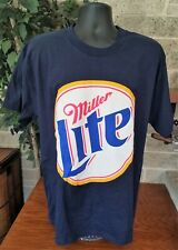 NWT VTG MENS CHASE AUTHENTIC RACE CLUB RUSTY WALLACE MILLER LITE T-SHIRT SIZE L