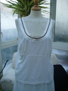 Escada white satin edge lacey top XL NEW with tags