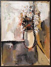 Cara Costea philippe gouache sur papier signée datée 1958 art fleurs art
