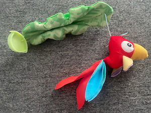 Fisher Price Rainforest Jumperoo Plush Red Bird • Hanging Toy Replacement Part