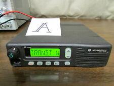 A Motorola Mcs 2000 Mobile Radio 800mhz Uhf 250 Channels M01hx812w As Is