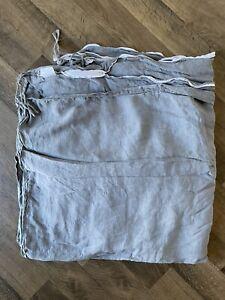 "Restoration Hardware Linen Duvet Cover Grey 100% Linen Full/Queen 90x90"""