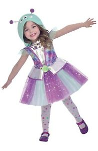Girls Adorable Alien Dressing Up 6-8 Years