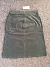 "M&S PER UNA Velvet Skirt UK16 EU44 Length 24""or 61cm BNWT Sage"