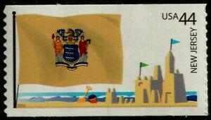 US 2010 SCOTT 4308 NEW JERSEY STATE FLAG 44c FLAGS OF OUR NATION SET 4 MVF STAMP