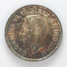 1943 Canada Silver 25 Cents George VI km35 Beautiful Color - CH BU #01281922g