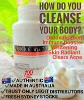 GLUTATHIONE BEST SELLER 1LUXXE WHITE ADVANCED WHITENING,CLEARS ACNE,AU SELLER
