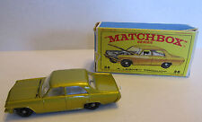 VINTAGE MATCHBOX SERIES #36 GOLD OPEL DIPLOMAT IN BOX - GOOD CONDITION