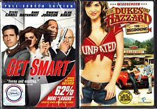 Get Smart (DVD, 2008, Full Screen) & Dukes Of Hazzard,WS (DVD)