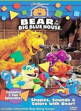 Bear in the Big Blue House - Shapes, Sounds and Colors with Bear (DVD, 2000) NEW