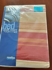 """Single duvet cover and pillow case from """"Rosebys"""" in Beige & Coral BNWT"""