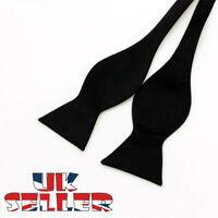 Black Satin Plain Bow Tie Wedding Bowties Self Tie Bow Ties Italian Fashion