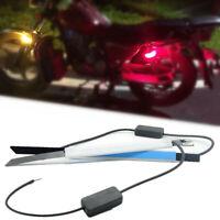 Amber/RED Fork Tubes LED Turn Signal Lights Trip for Custom Chopper Cruiser Moto