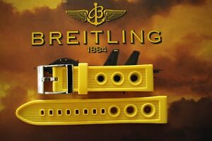NWOT 22MM YELLOW SCUPPER VENT WATCH BAND WATCHBAND BRACELET STRAP FOR BREITLING