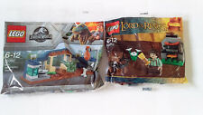 LEGO LORD OF THE RINGS 30210 Frodo & Jurassic World 30382 Raptor - *NEW/SEALED*