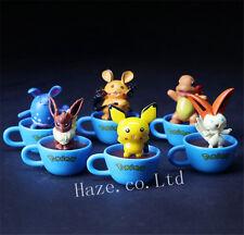 6pcs/Set Pokemon PVC Mini Figura Figurilla Modelo 6cm