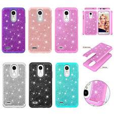 For LG Rebel 4 LTE / Phoenix 4 Case Glitter Bling Armor Protective Phone Cover