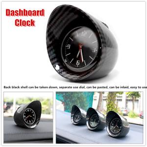 Carbon Fiber Electronic Car SUV Interior Dashboard Clock Console Decor Backlight