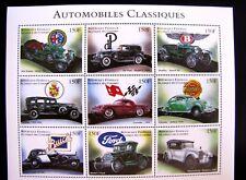 AUTOMOBILES CLASSIQUES SERIES MNH OG (SEE ITEM DESCRIPTION)