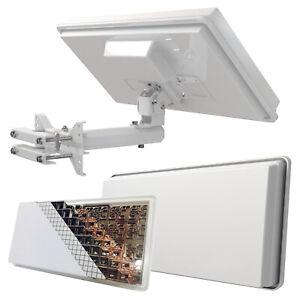 Selfsat H30D2+ Flachantenne Digital mit Fensterhalterung HD Twin Sat Anlage 4K