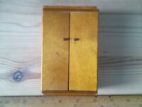 Vintage dolls house Bartons wooden 1940/50's wardrobe 1/16th  scale