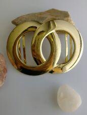 Vintage polished gold tone signed Gutos west germany belt buckle
