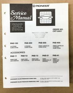 Pioneer PAS-100 -200 -300 -400  Mobile Car Security Service Manual *Original*