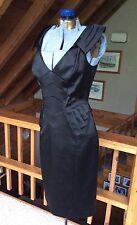 KAREN MILLEN England NWT New Black Cocktail Dress Perfect Sleeveless Fitted 8
