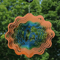 Sunnydaze Reflective Dolphin Whirligig Outdoor Wind Spinner with Hook - 12-Inch