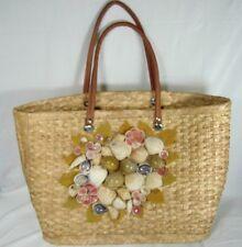 Sea Shell Woven Straw Large Bag Beach Bag