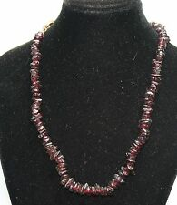 Granat (Almadin) kette Splitter stark Länge  42 cm