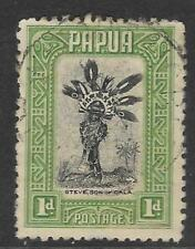 PAPUA 1932 1d Green CHIEFTAIN'S SON 1v USED (No 1)
