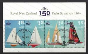 NEW ZEALAND 2021 ROYAL NZ YACHT SQUADRON MINIATURE SHEET FINE USED