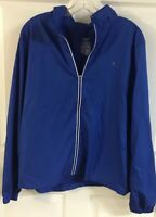DANSKIN Zip Up Jacket Womens Size XXL | Royal Blue Lightweight Zipped Hood