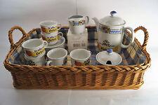 Kaffee Geschirr für 6 Personen - Seltmann Weiden 9 Teilig - Orginalware.