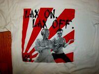LAX ON LAX OFF Funny Lacrosse Karate Kid T-Shirt Tee M medium