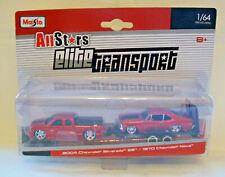 Maisto All Stars Elite transporte - 2004 Silverado de Chevrolet SS & 1970 Nova 1:64