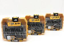 DeWalt Bits Pack T20 T25 T30 für TX I-Stern Schrauben Schrauber Bit-Set Bit-Box