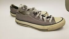 Grey Low Top All Star Converse Unisex Mens Size 4 Womens Size 6