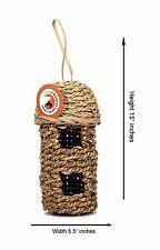 """Bird House Grass Woven Bird Nest Rope Hanging Double - Size 6"""" x 15"""""""