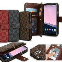 Dual Luxury leather wallet flip Case Cover for Galaxy S10/ Note10 9/ iPhone / LG