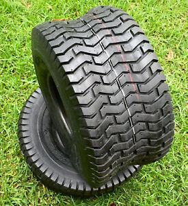 (2) Two 20x10.00-8 Lawn Tractor Rear D265 Turf Tubeless Tires  20x10-8 NHS