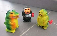 Vintage Wind Up Toy_Lot of 3_Godzilla_King Kong_Monster Black Lagoon_Hong Kong