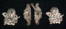 Antique Pair Cherub Angel Decorative Frame Metal Accent Embellishments Closure