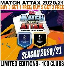 MATCH ATTAX 2020/21 20/21 CHAMPIONS LEAGUE  - 100 CLUBS/ LIMITED EDITIONS