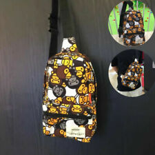 New A Bathing Ape Monkey Printing Camo Chest Bag Men Bape Crossbody Satchel Bag