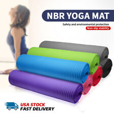"""10MM Thick Durable Exercise Yoga Mat 70"""" Long Sport Fitness Mat Gym FAST SHIPPIN"""